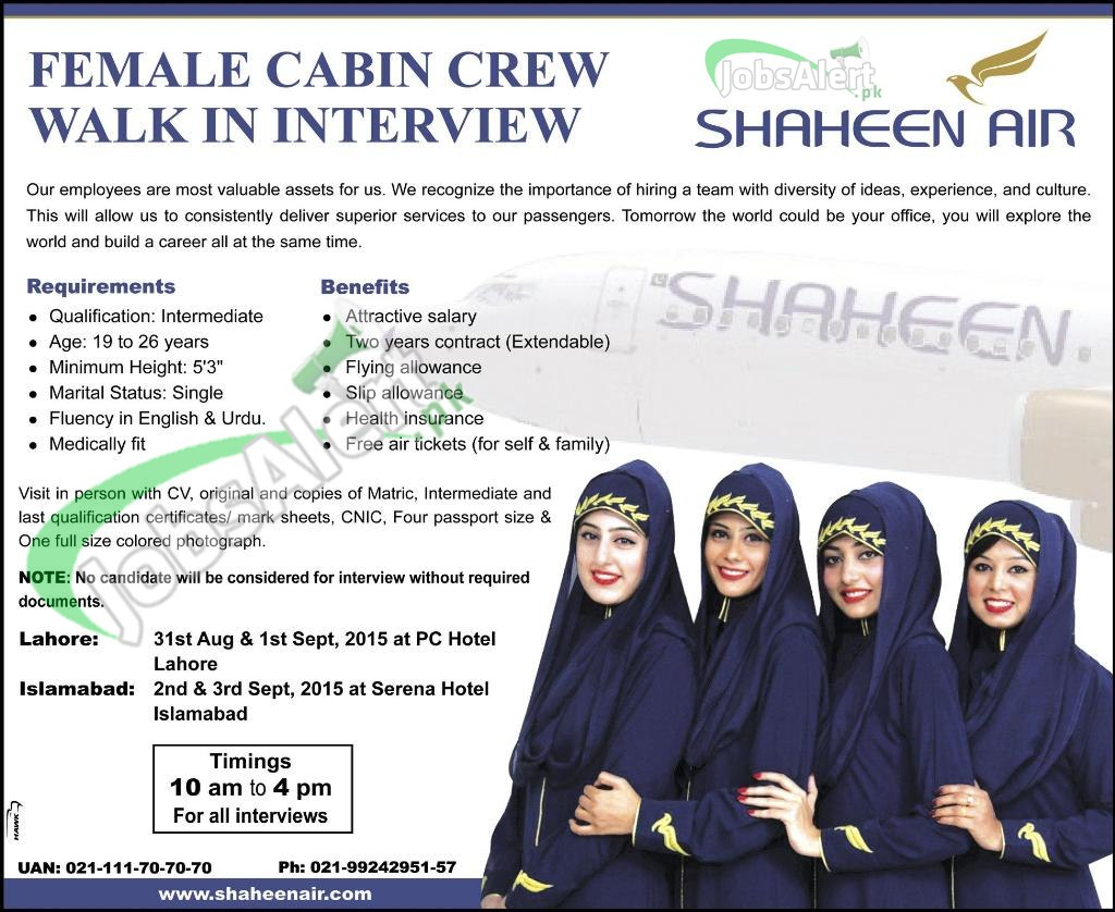 shaheen air cabin crew jobs latest advertisement shaheen air cabin crew jobs
