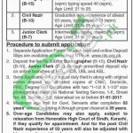 District and Session Court Malir Karachi Jobs