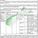 Directorate General Health Services Punjab Jobs