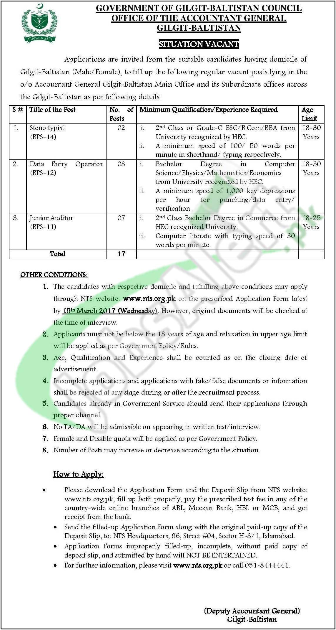 gilgit baltistan office of the accountant general jobs 2017 type in google search gilgit baltistan office of the accountant general jobs