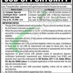 PO Box 10068 Lahore Jobs
