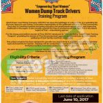 Women Dump Truck Drivers Trainign Program