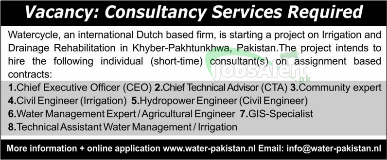 Jobs in Khyber for Consultancy Service Required