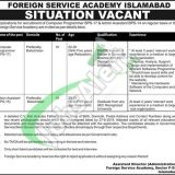 Foreign Services Academy Islamabad Jobs 2019