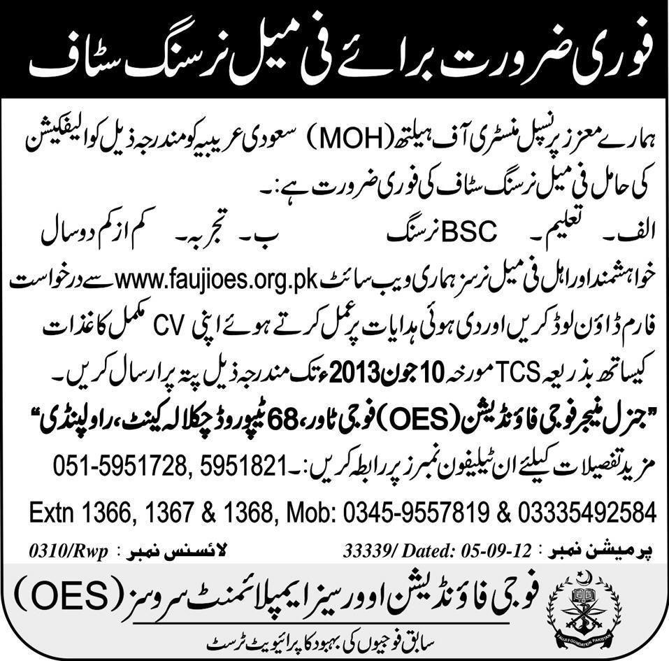 Female Nursing Staff Needed in Rawalpindi