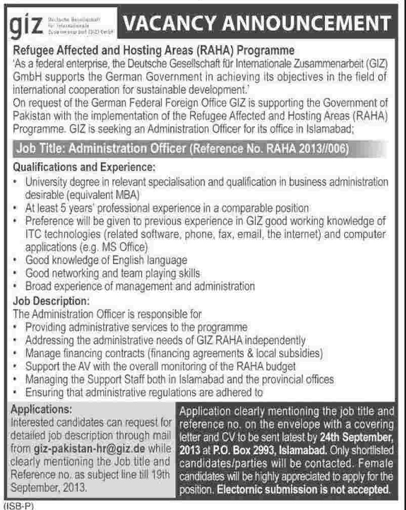Administrator Jobs in Refugee Affected and Hosting Areas (RAHA)