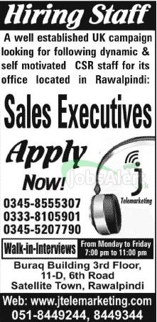 Sales Executive Jobs in Rawalpindi