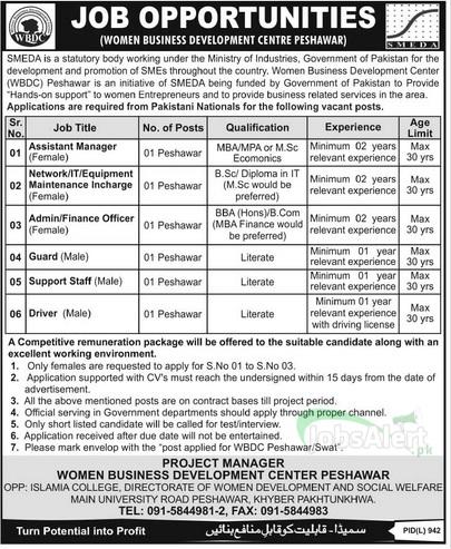 Assistant Manager Jobs in Women Business Development Centre Peshawar