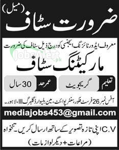 Jobs for Marketing Staff in Advertising Agency Lahore