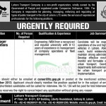 Jobs for Manager Operation in Lahore Transport Company Lahore