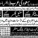 Jobs in Saudi Arabia for Carpenter, Steel Fixer and Labour