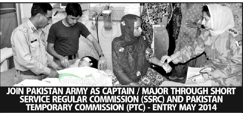 Join Pakistan Army 2014 as Captain / Major through SSRC