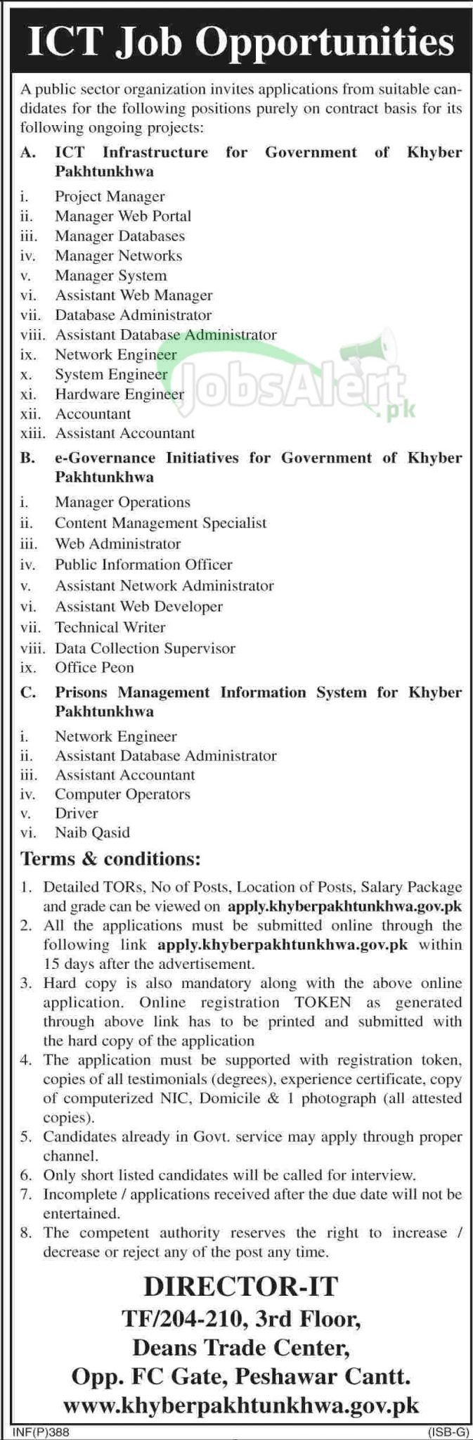 Government Jobs 2014 in Government of Khyber Pakhtunkhwa