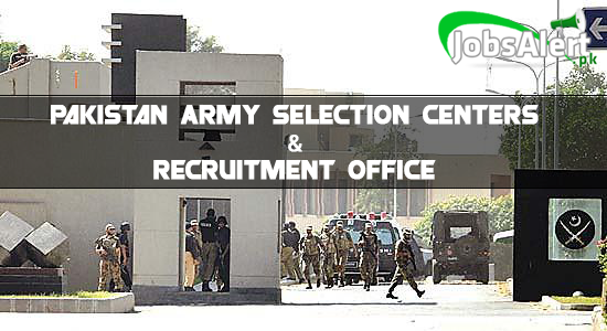 Pakistan Army Selection Centers & Recruitment Office