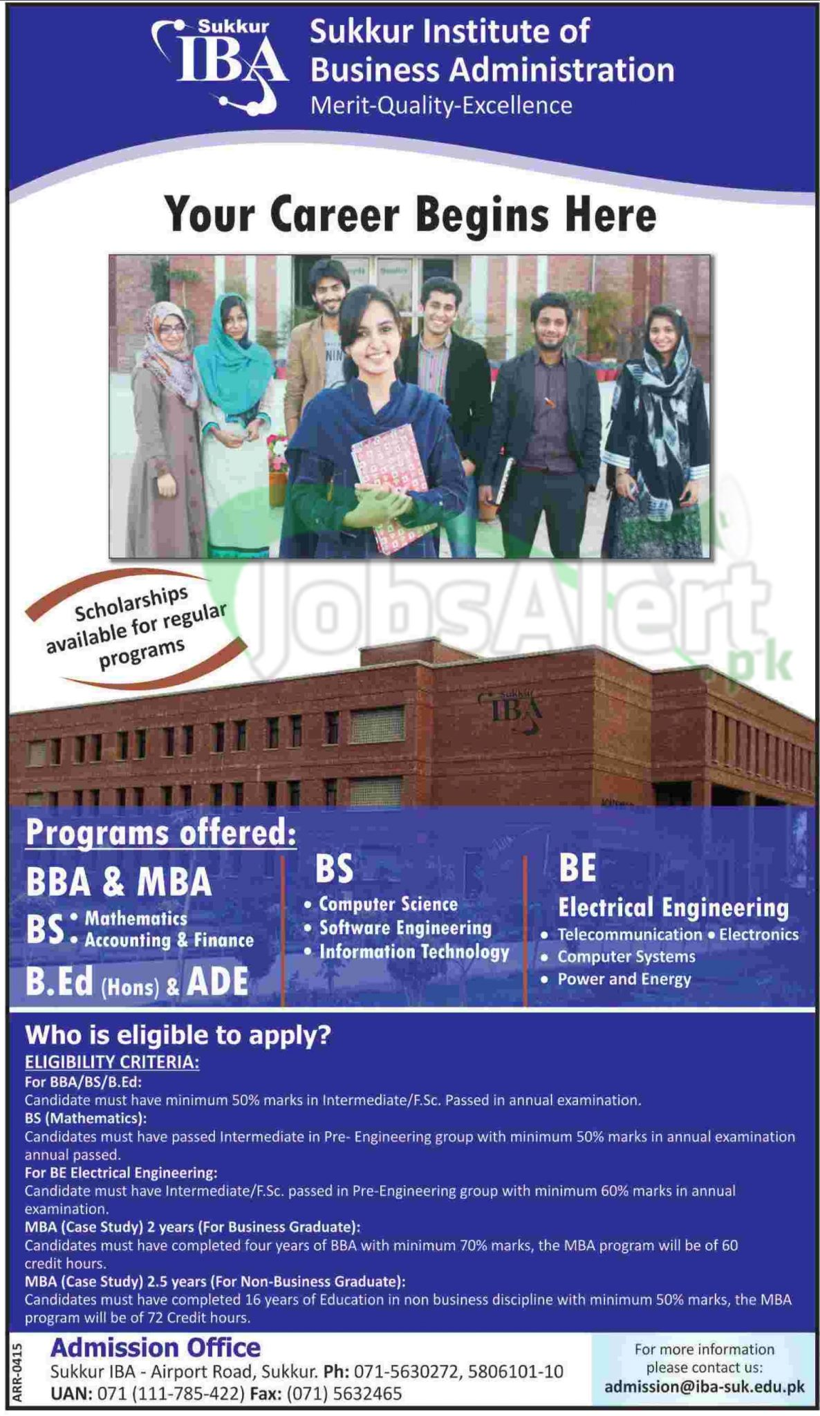 Admission 2014 in Sukkur Institute of Business Administration