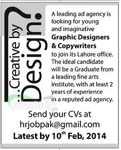 Graphics Designers & Copywriters Jobs in Lahore Pakistan