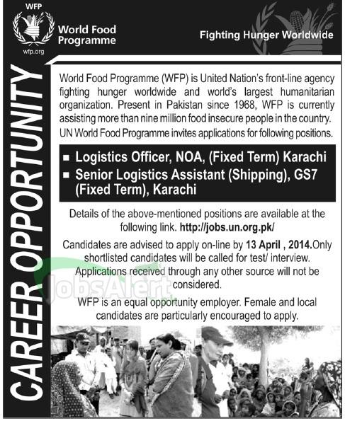 Logistics Officer Jobs in World Food Programme (WFP) Karachi