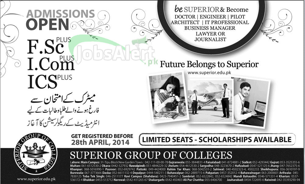 Superior Group Of Colleges Fall Admissions 2014