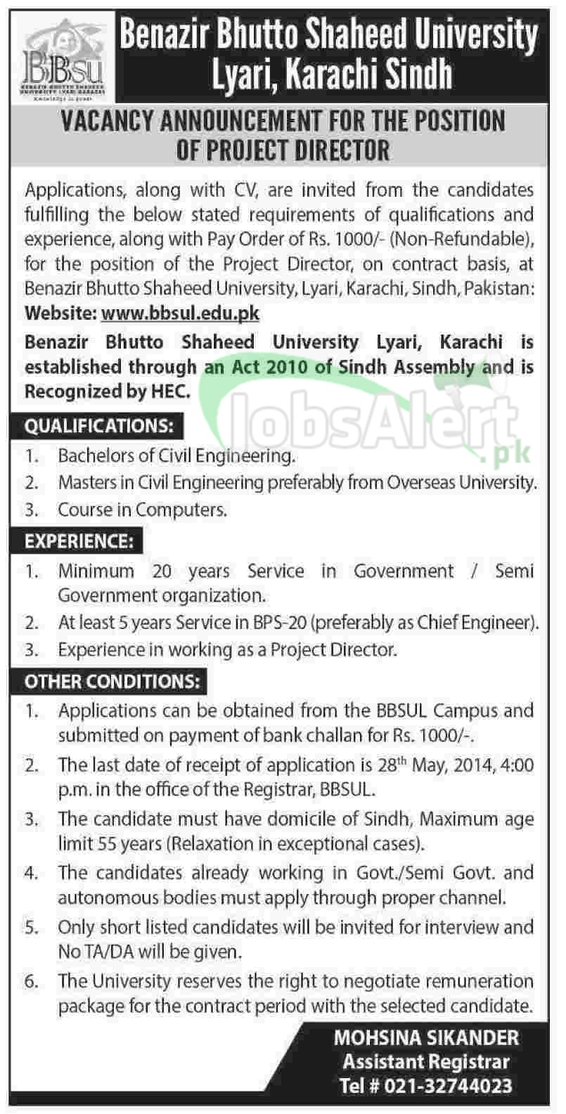 Benazir Bhutto Shaheed University Lyari Karachi