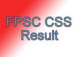 CSS Examination FPSC Result