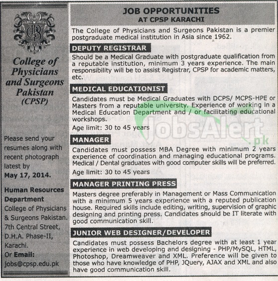 College of physicians & Surgeons Pakistan (CPSP)