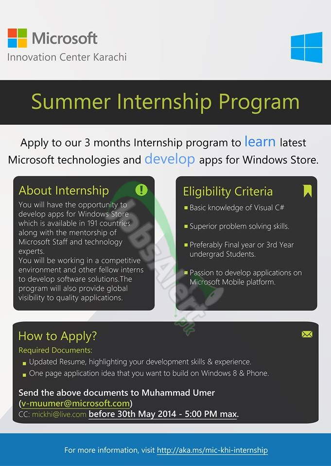 Microsoft Summer Internship Program