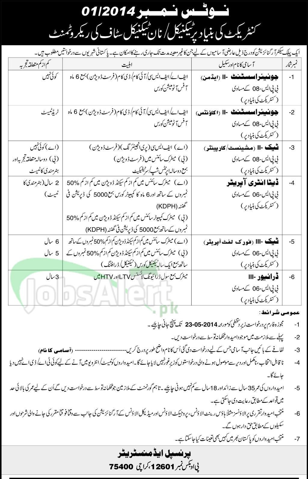 Public Sector Organization Karachi