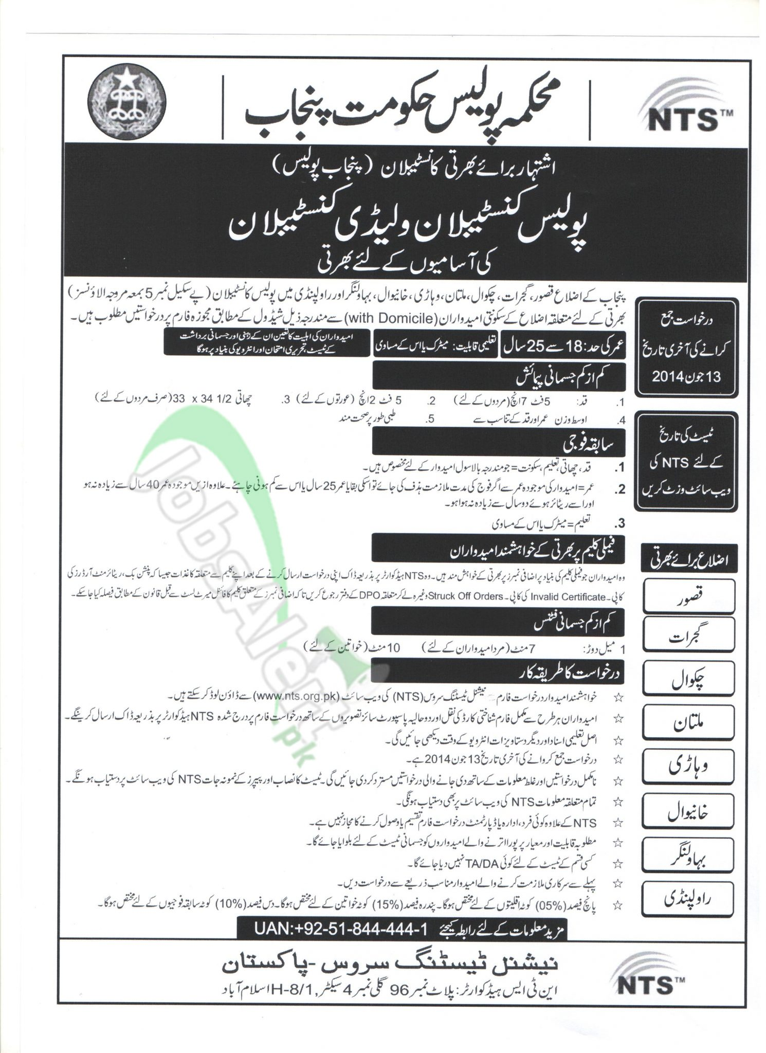 punjab police jobs for constables application forms