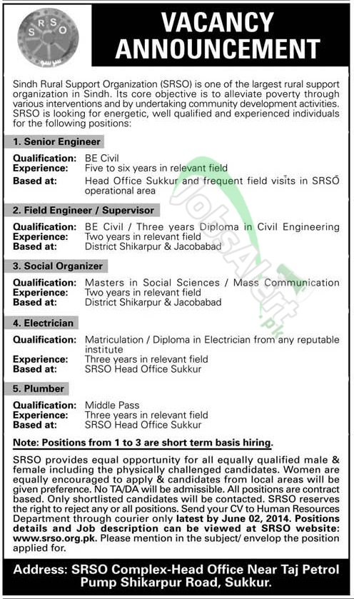 Sindh Rural Support Organization (SRSO)