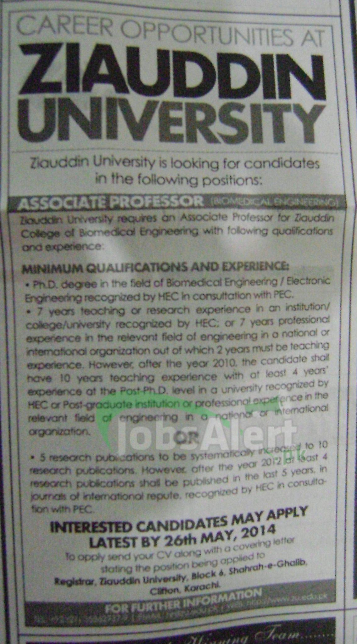 Ziauddin University Karachi