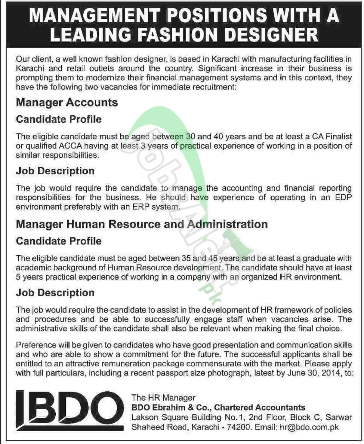 BDO Ebrahim & Co Chartered Accountants