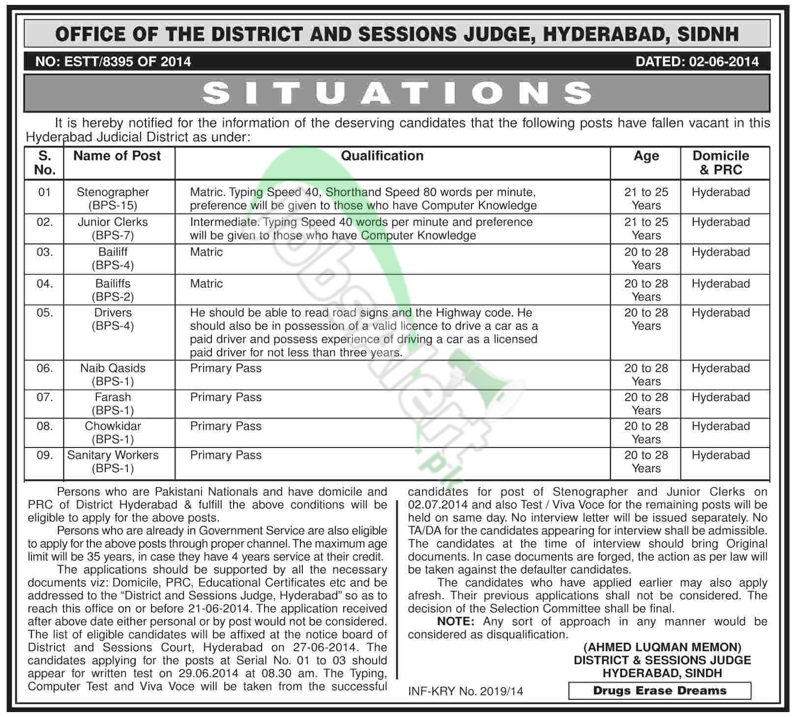 District and Session Court Sindh