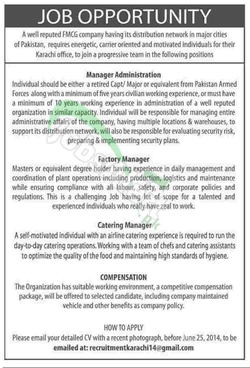FMCG Company Pakistan