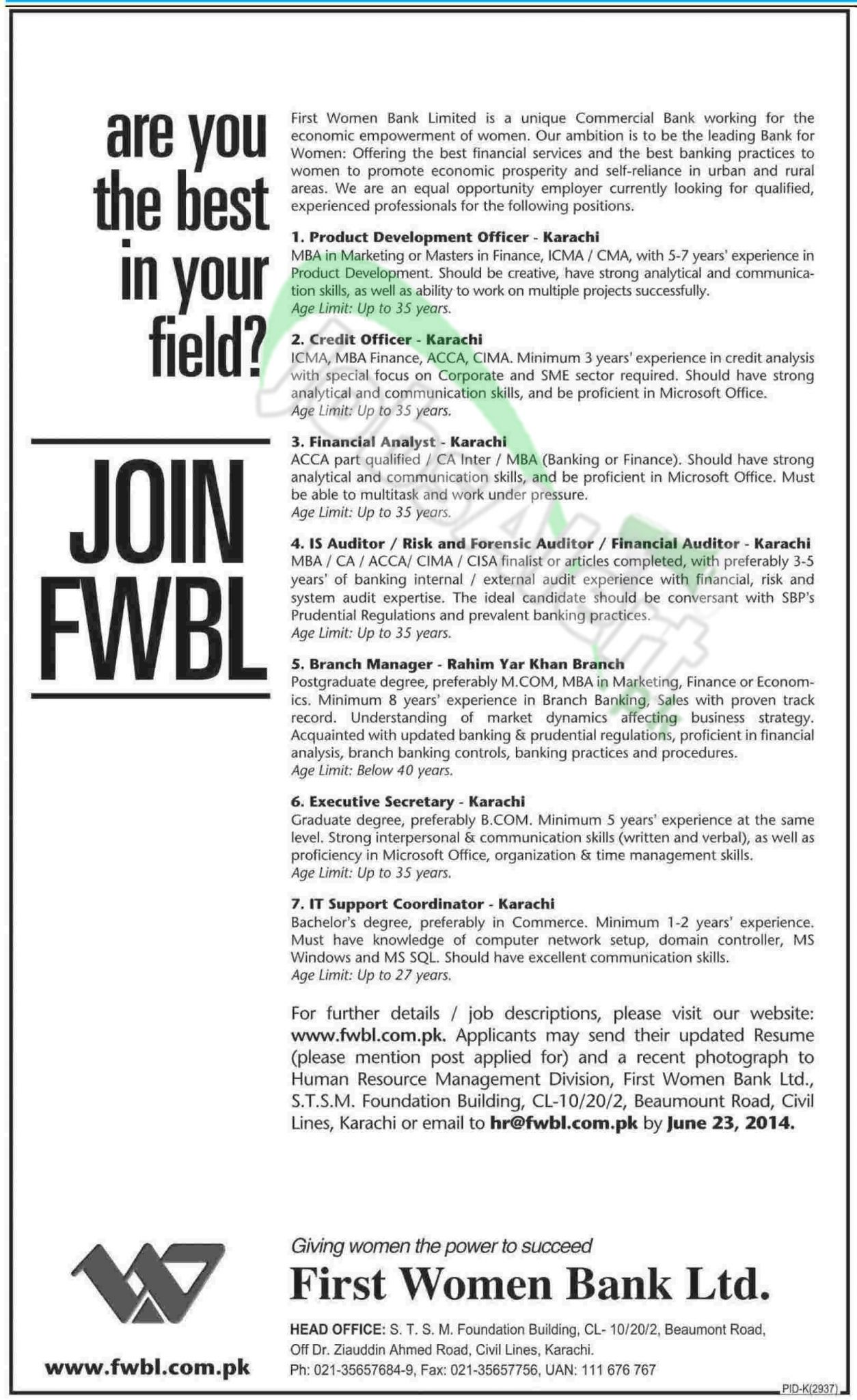 First Women Bank Limited