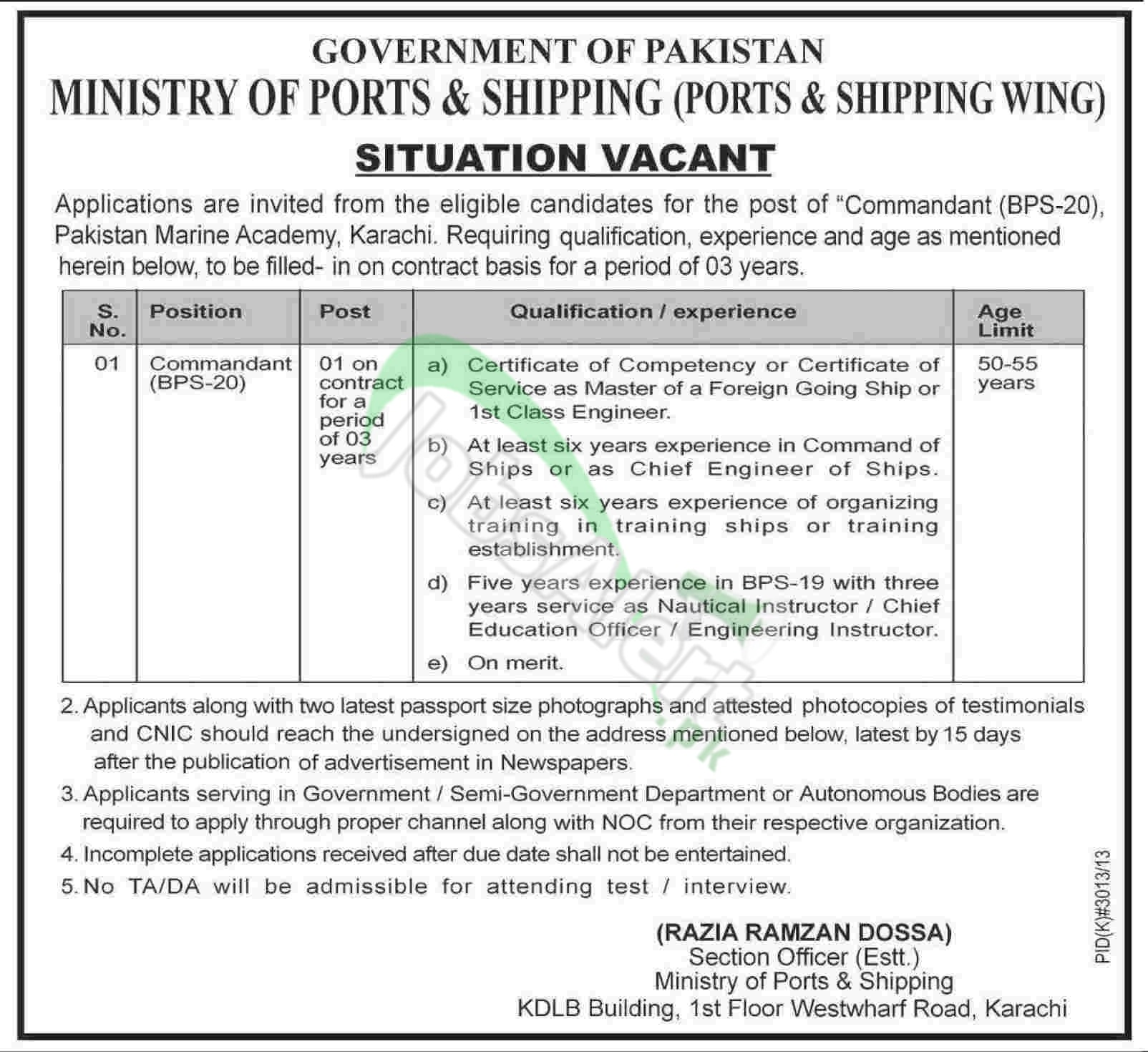 Ministry of Ports & Shipping