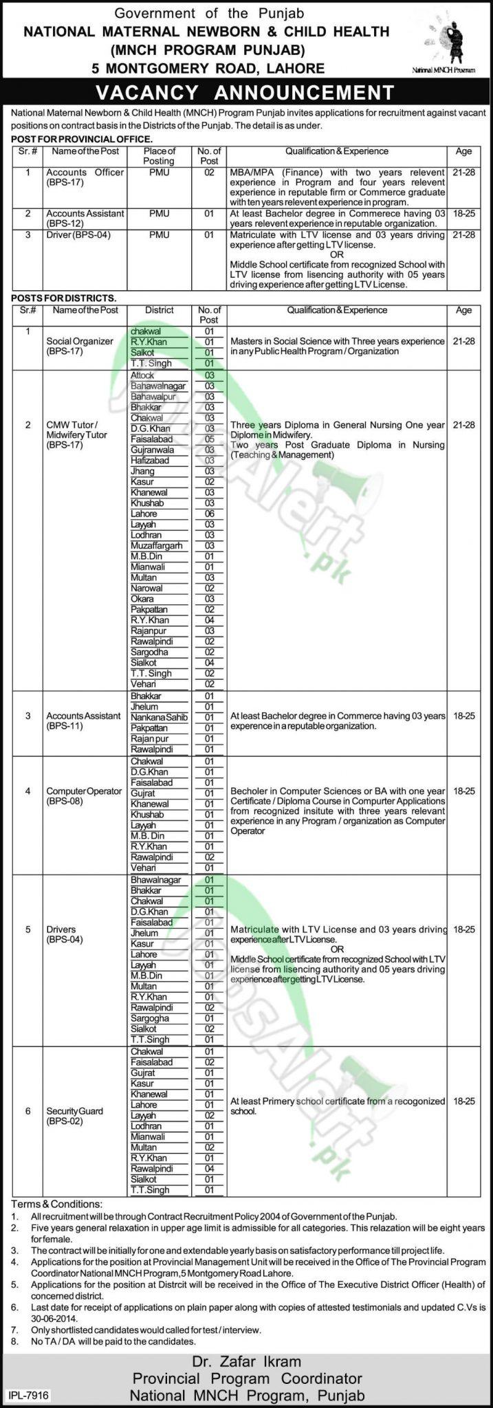 National MNCH Program Punjab