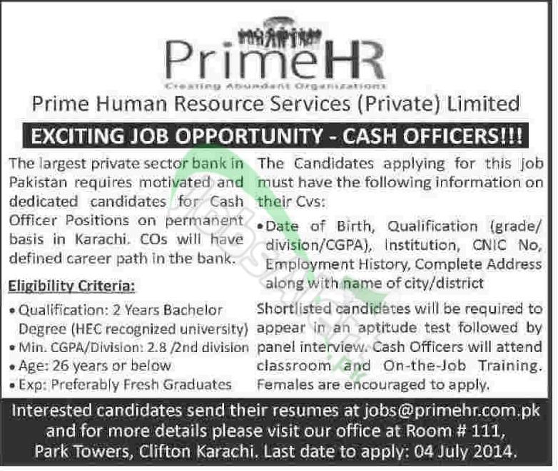 Prime HR Pvt. Ltd. Karachi