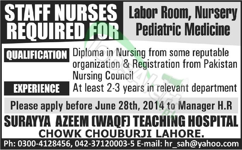 Surayya Azeem (Waqf) Teaching Hospital