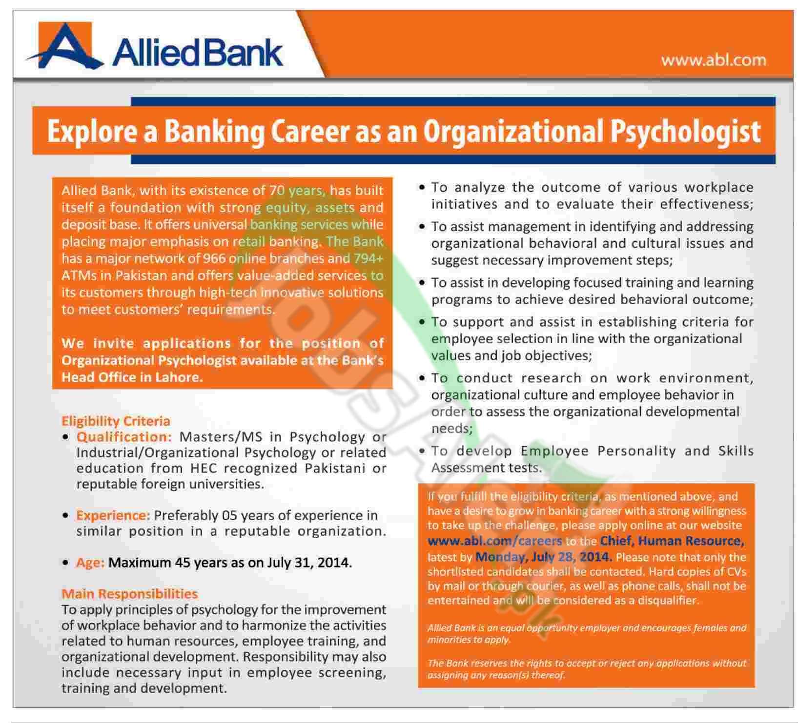 Allied Bank Limited Lahore