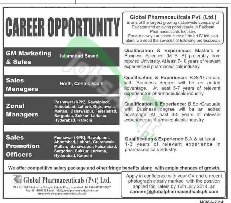 Global Pharmaceuticals Pvt Ltd Pakistan