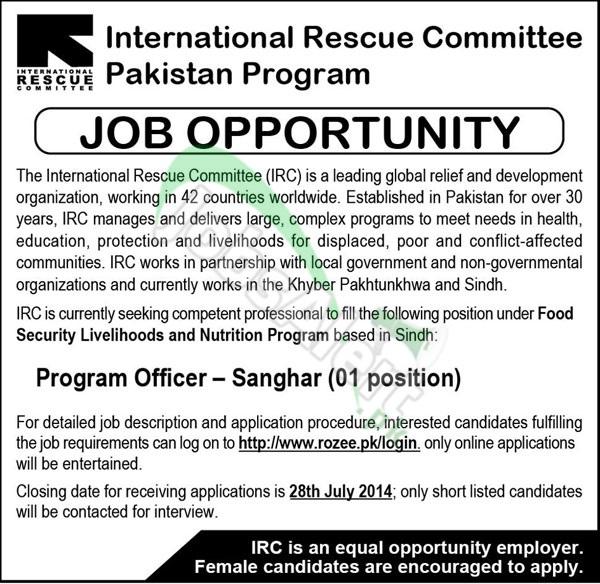 International Rescue Committee (IRC) Pakistan