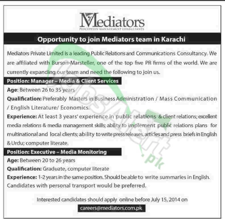 Mediators Karachi