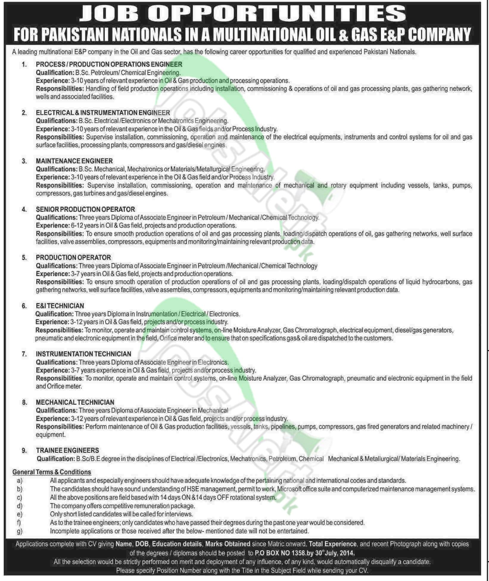 Multinational Oil & Gas E&P Company, Pakistan