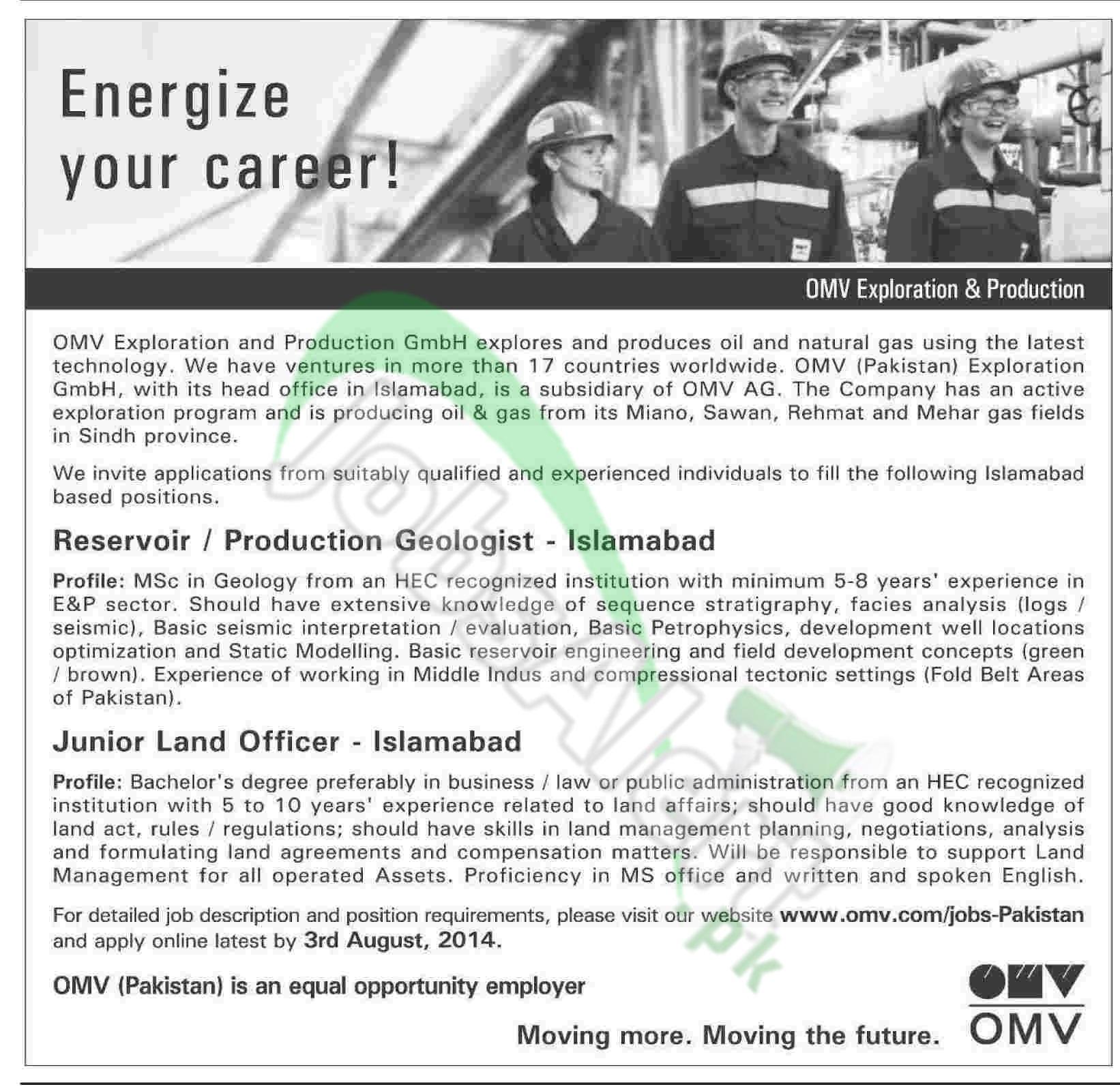 OMV Exploration and Production GmbH, Pakistan