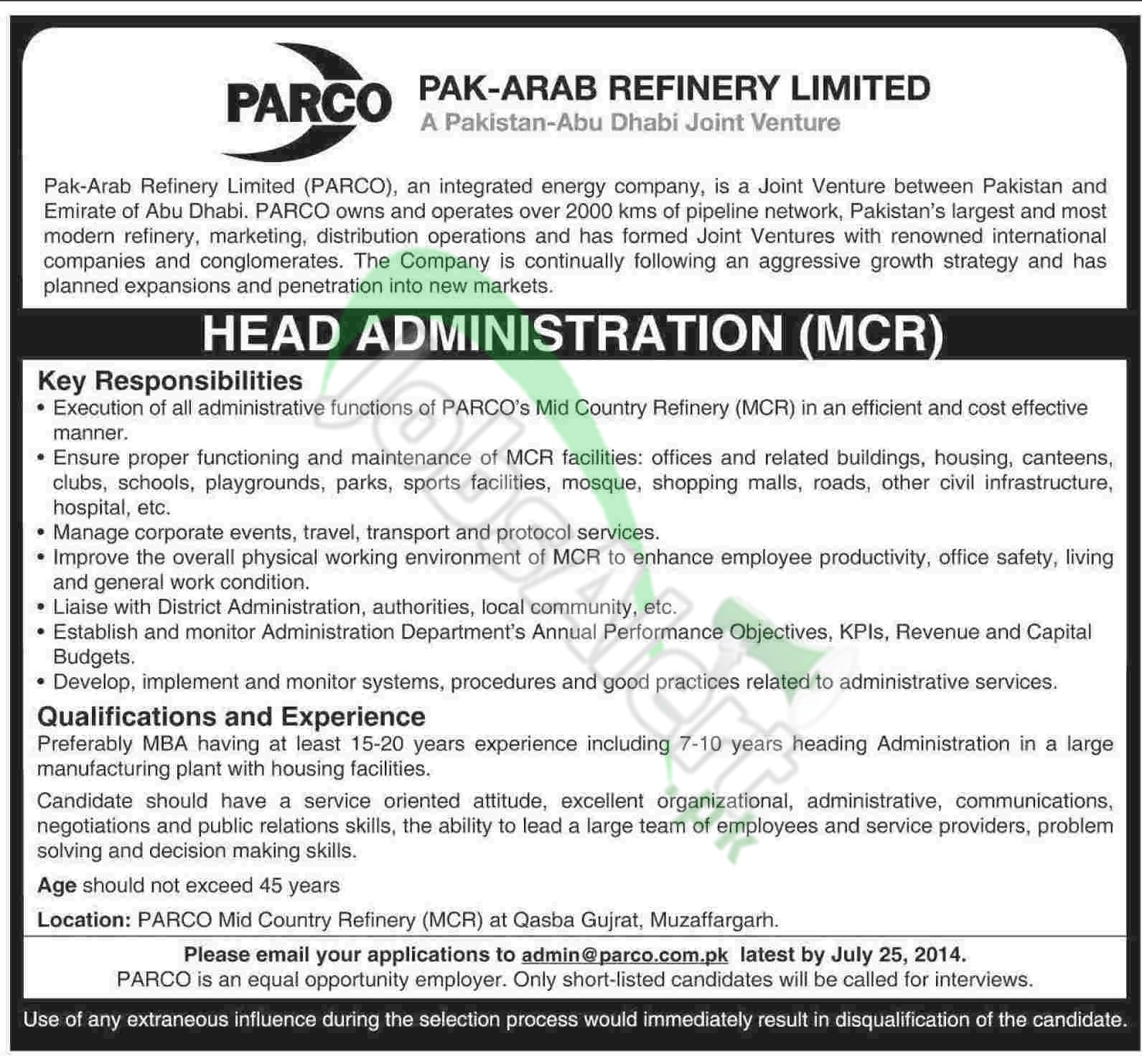 Pak Arab Refinery Limited