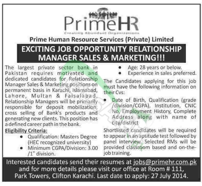 Prime HR Services Pvt. Ltd. Karachi