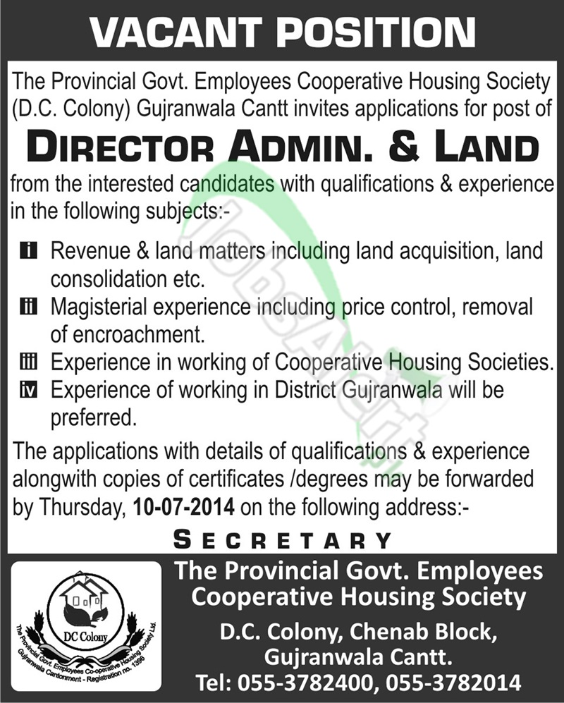 The Provincial Govt. Employees Cooperative Housing Society
