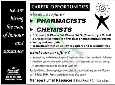 Wilson Pharmaceuticals Islamabad