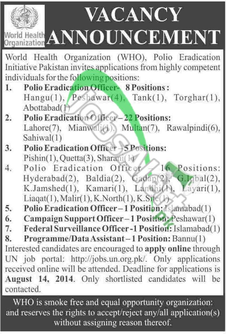 World Health Organization (WHO) Pakistan