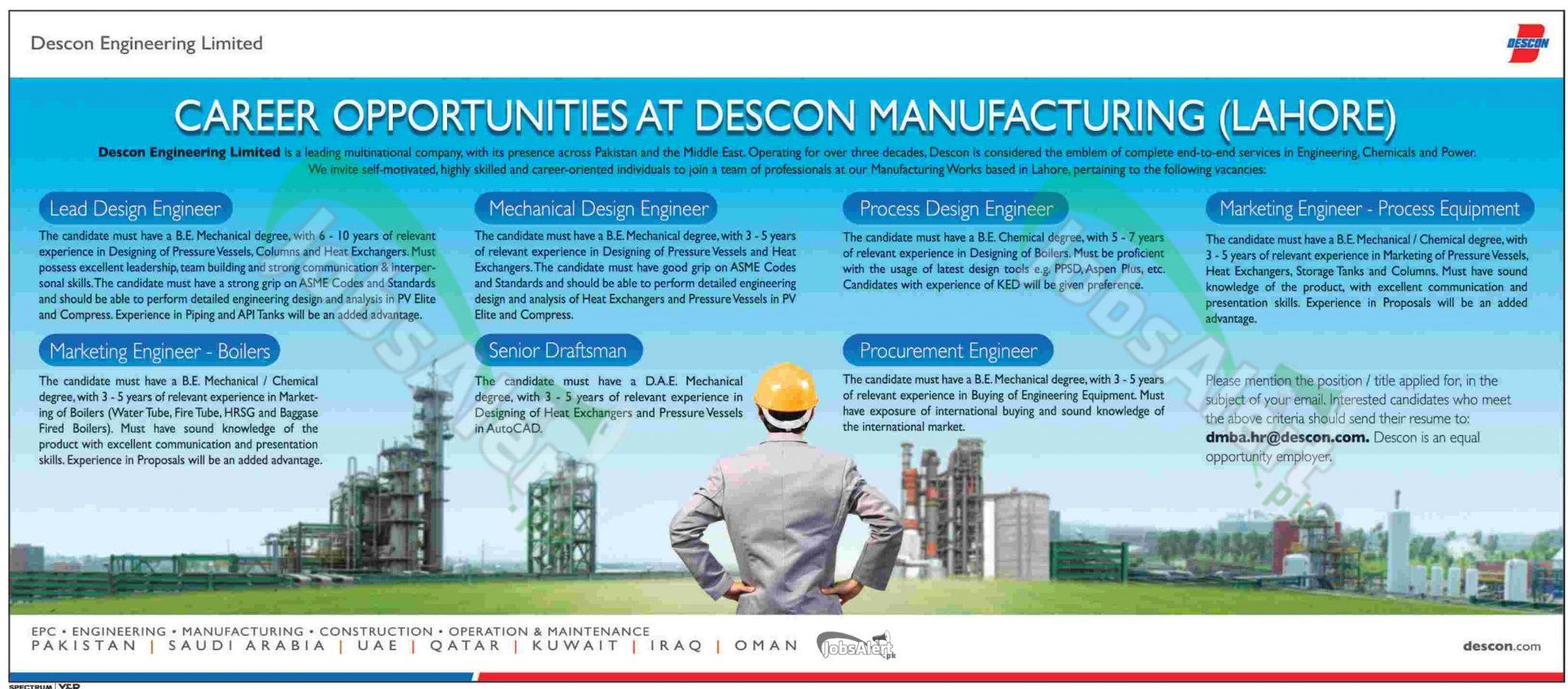 Descon Engineering Ltd Lahore